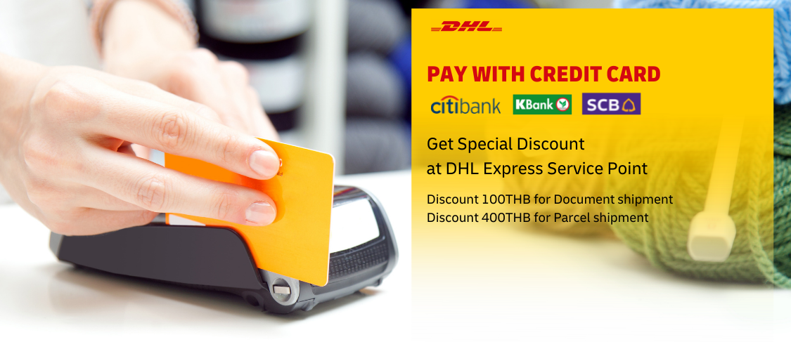 Get Discount Up to 400THB only for payment via credit card